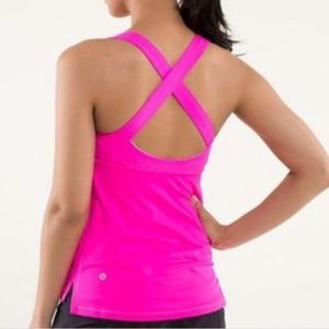 🍋 Lululemon Hot Pink Criss-Cross Tank